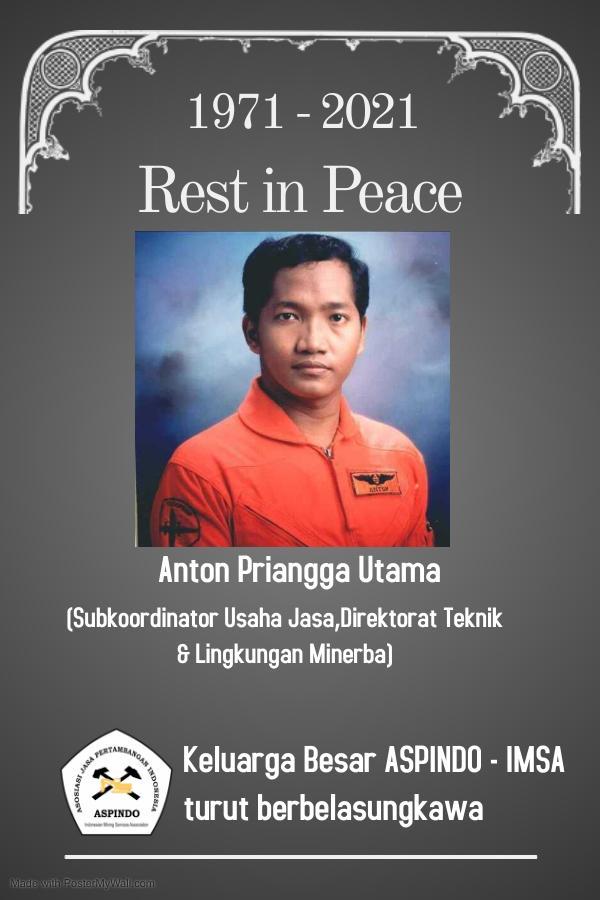 Ucapan Belasungkawa atas meninggalnya Anton Priangga Utama